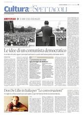"""Don DeLillo in Italia per """"Le conversazioni"""""""
