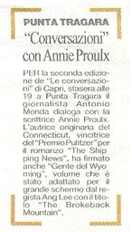 """""""Conversazioni"""" con Annie Proulx"""