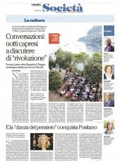 """Conversazioni: notti capresi a discutere di """"rivoluzione"""""""