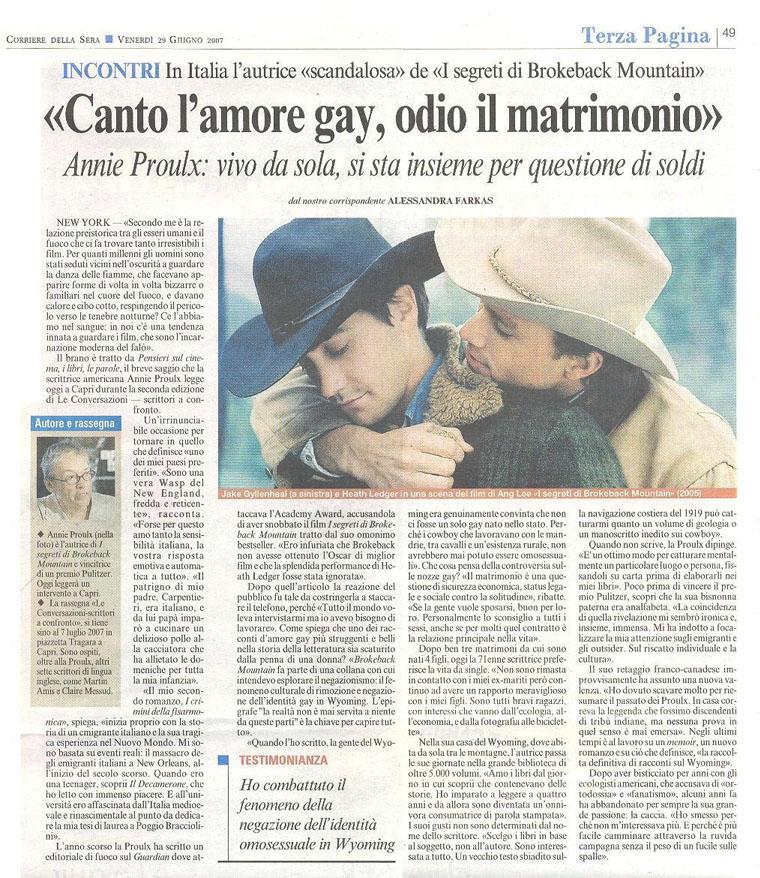 """""""Canto l'amore gay, odio il matrimonio"""""""