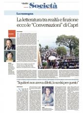 La letteratura tra realta' e finzione: ecco le Conversazioni di Capri