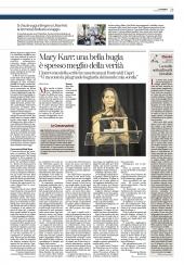 Mary Karr: una bella bugia e' spesso meglio della verita'