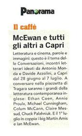 McEwan e tutti gli altri a Capri