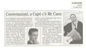 Conversazioni, a Capri c'è McCann