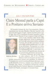 Claire Messud parla a Capri