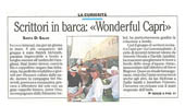"Scrittori in barca:""Wonderful Capri"""