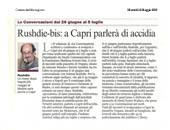 Rushdie-bis: a Capri parlerà di accidia