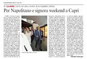 Per Napolitano e signora weekend a Capri