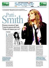 """Poesia e musica a Capri. Torna la signora del rock """"Felice di cantare per voi"""""""