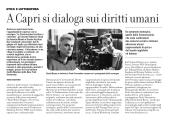 A Capri si dialoga sui diritti umani