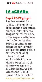 In agenda: Capri, 25-27 giugno