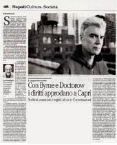 Con Byrne e Doctorow i diritti approdano a Capri
