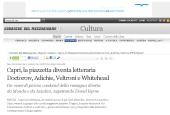 Capri, la piazzetta diventa letteraria