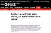 Scrittori a confronto sulla libertà, a Capri conversazioni inglesi