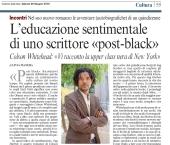 """L'educazione sentimentale di uno scrittore """"post-black"""""""
