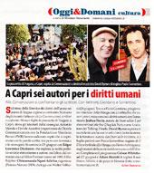 A Capri sei autori per i diritti umani