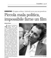 Piccola mala politica, impossibile farne un film