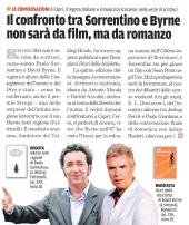 Il confronto tra Sorrentino e Byrne non sarà da film, ma da romanzo