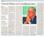 Veltroni: il futuro non è socialdemocratico