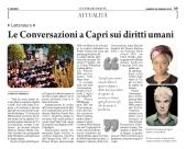 Le Conversazioni a Capri sui diritti umani