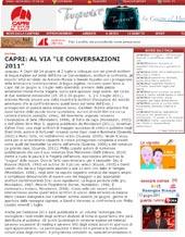 """Capri: al via """"Le Conversazioni"""" 2011"""