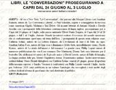 Le Conversazioni proseguiranno a Capri dal 24 giugno al 3 lugio