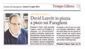 David Leavitt in piazza a picco sui Faraglioni