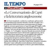 Le Conversazioni di Capri e la letteratura anglosassone