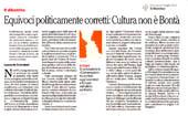 Equivoci politicamente corretti: Cultura non è Bontà