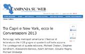 Tra Capri e New York, ecco le Conversazioni 2013