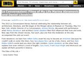 Le Conversazioni: Films of My Life Marina Abramovic and Daniel Libeskind