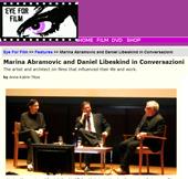 Marina Abramovic and Daniel Libeskind in Conversazioni