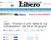 """Capri: """"Vincitori e vinti"""" tema di """"Le Conversazioni"""" dal 28 al 30 giugno"""