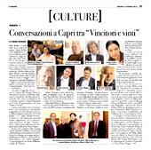 "Conversazioni a Capri tra ""Vincitori e vinti"""